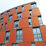 fachada ventilada naranja
