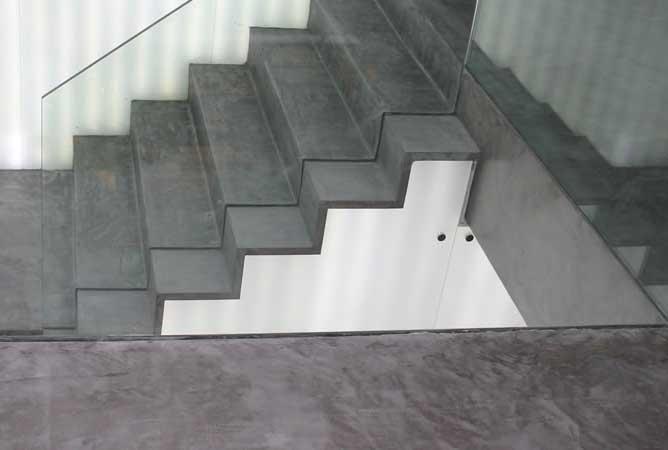 Revestir escaleras con microcemento es una buena idea - Como hacer microcemento ...