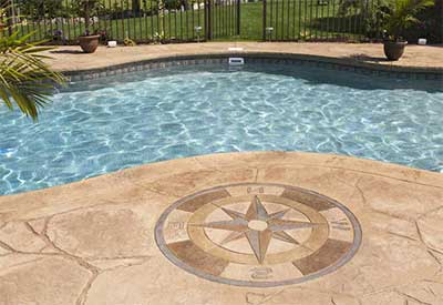 hormigon impreso piscina