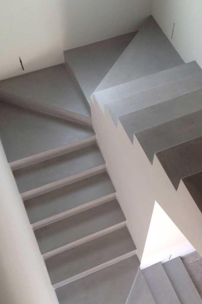 Revestir escaleras con microcemento es una buena idea - Como hacer escalera ...